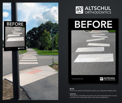 street marketing exemple altschul orthodontics