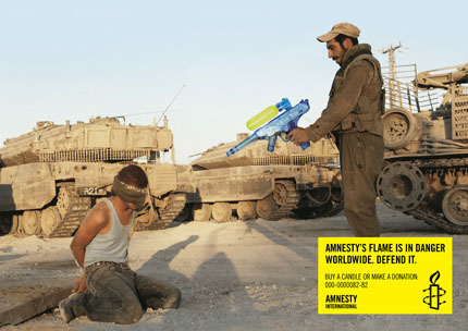 Amnesty International publicité ads